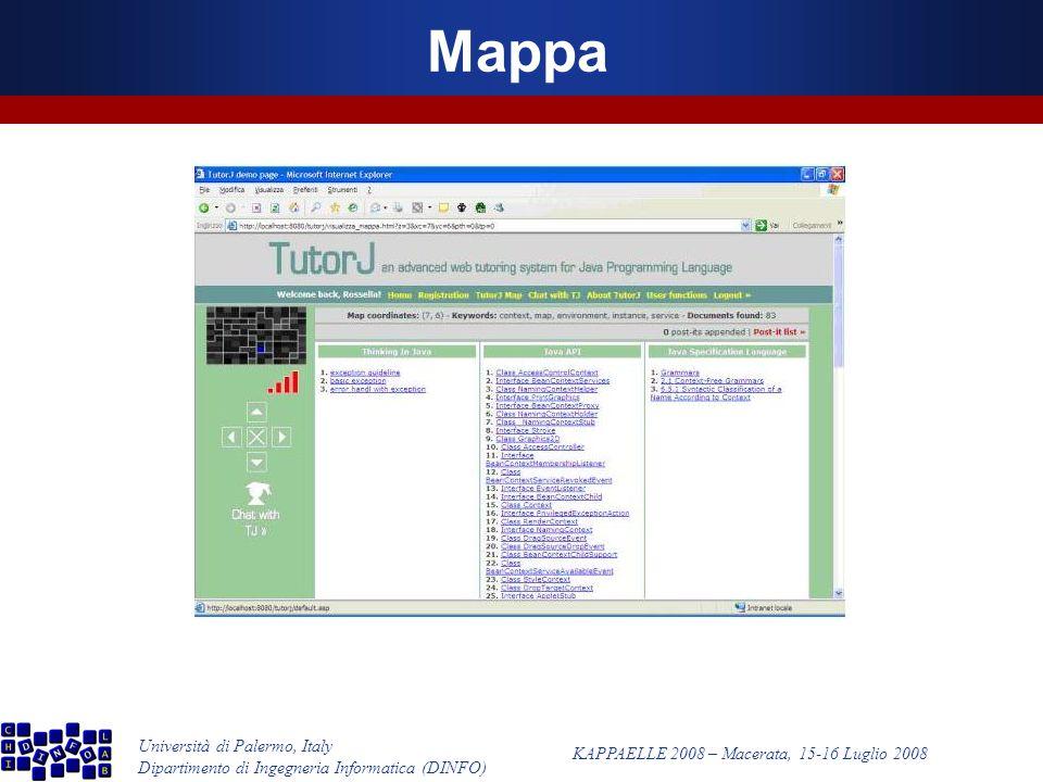 Università di Palermo, Italy Dipartimento di Ingegneria Informatica (DINFO) KAPPAELLE 2008 – Macerata, 15-16 Luglio 2008 Mappa