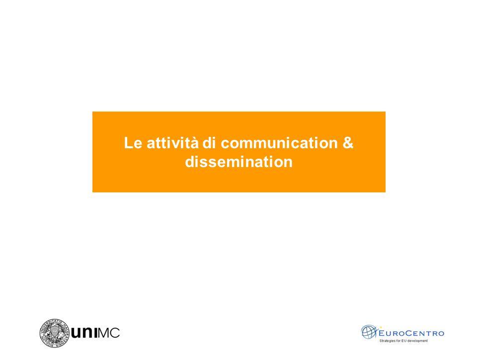 Le attività di communication & dissemination