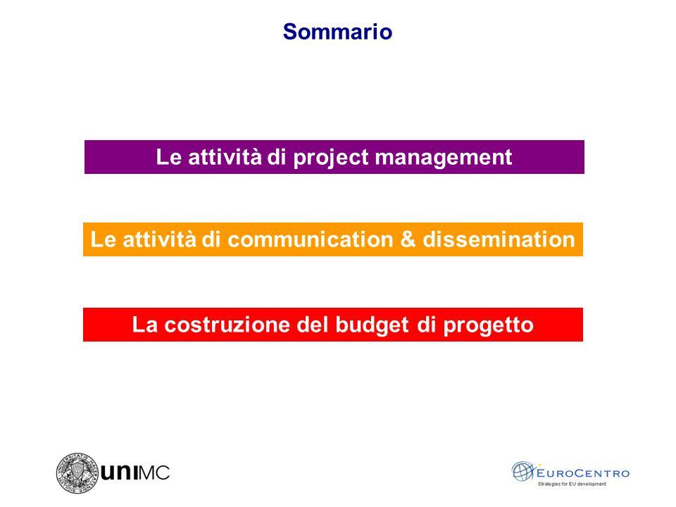 Le attività di project management