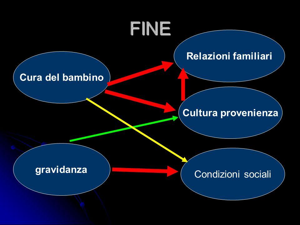 FINE gravidanza Condizioni sociali Cura del bambino Cultura provenienza Relazioni familiari