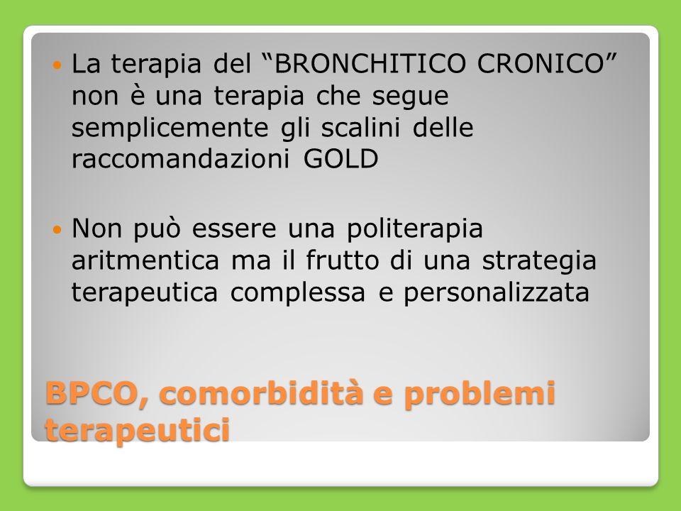 BPCO, comorbidità e problemi terapeutici La terapia del BRONCHITICO CRONICO non è una terapia che segue semplicemente gli scalini delle raccomandazion
