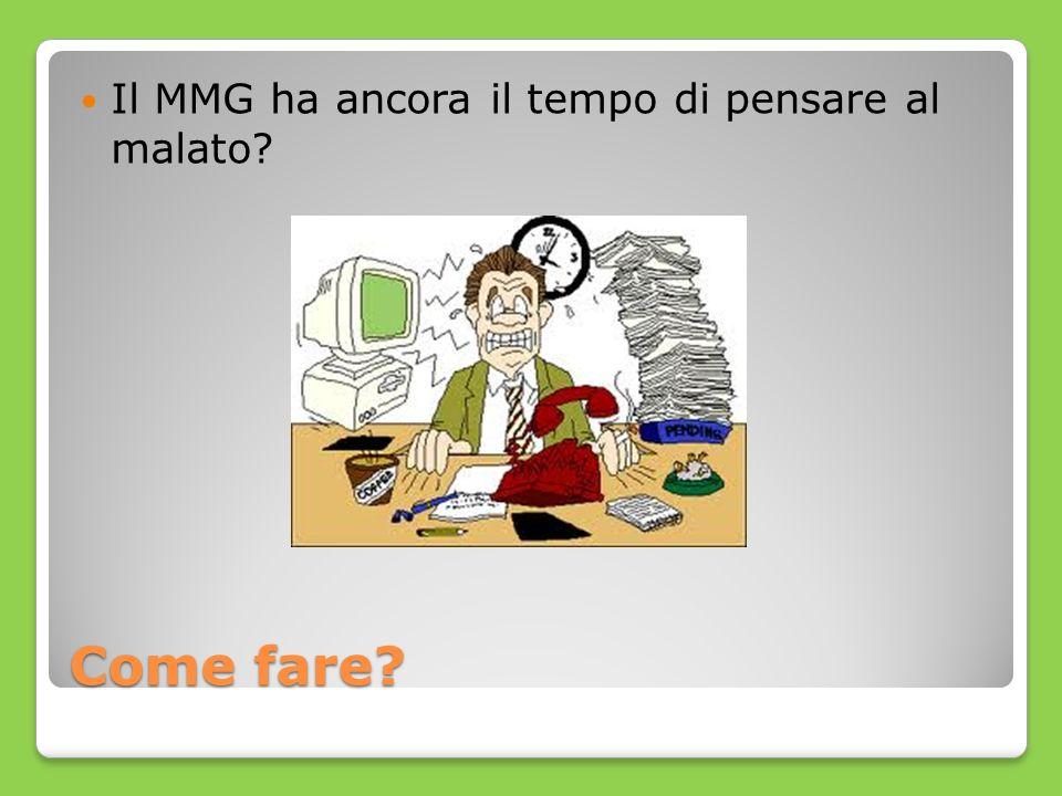 Come fare? Il MMG ha ancora il tempo di pensare al malato?