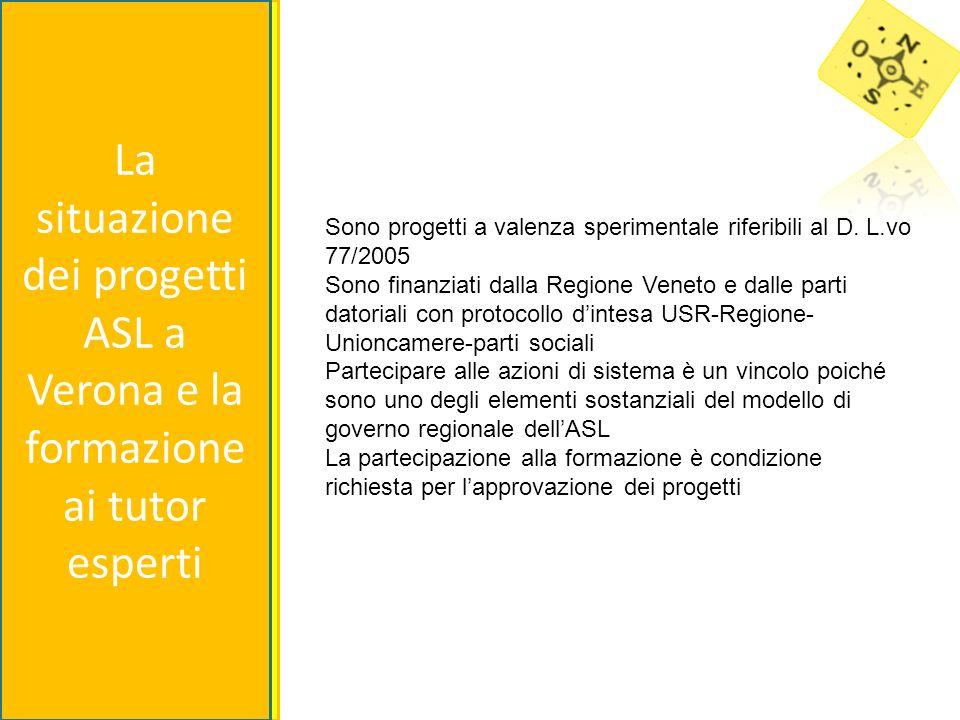 Sono progetti a valenza sperimentale riferibili al D. L.vo 77/2005 Sono finanziati dalla Regione Veneto e dalle parti datoriali con protocollo dintesa