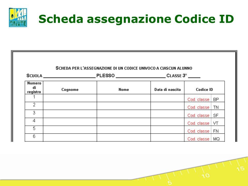 Scheda assegnazione Codice ID
