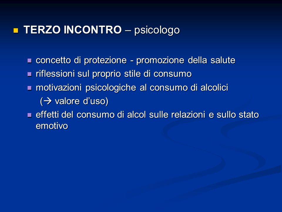 TERZO INCONTRO – psicologo TERZO INCONTRO – psicologo concetto di protezione - promozione della salute concetto di protezione - promozione della salut