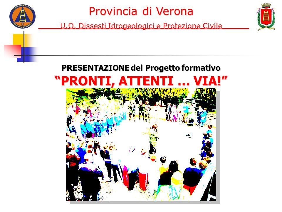 PRESENTAZIONE del Progetto formativo PRONTI, ATTENTI … VIA! Provincia di Verona U.O. Dissesti Idrogeologici e Protezione Civile