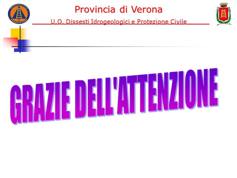 Provincia di Verona U.O. Dissesti Idrogeologici e Protezione Civile