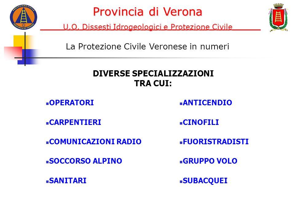 Distribuzione delle associazioni di PC nella provincia Provincia di Verona U.O.