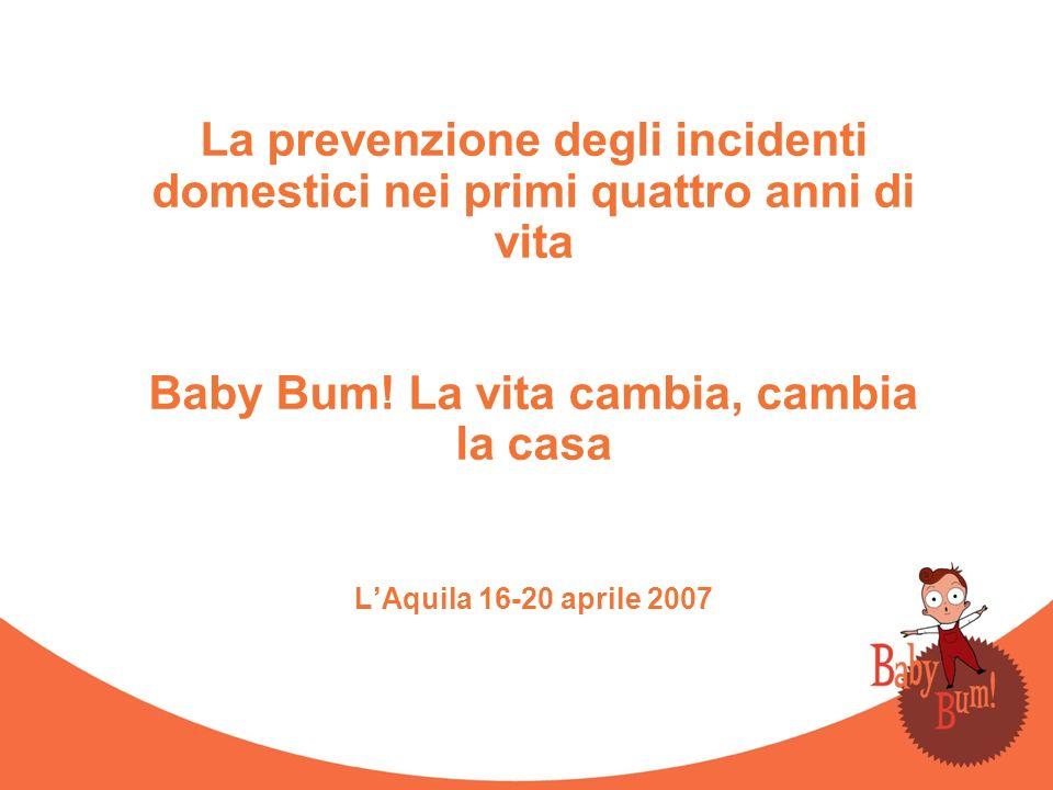 La prevenzione degli incidenti domestici nei primi quattro anni di vita Baby Bum! La vita cambia, cambia la casa LAquila 16-20 aprile 2007