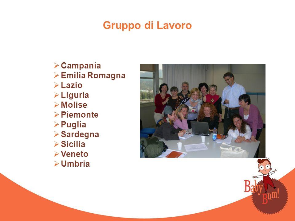Gruppo di Lavoro Campania Emilia Romagna Lazio Liguria Molise Piemonte Puglia Sardegna Sicilia Veneto Umbria