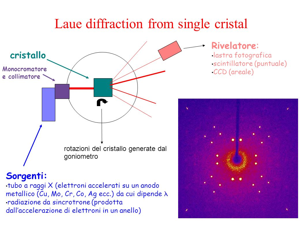 Laue diffraction by a powder sample: from spots to circles