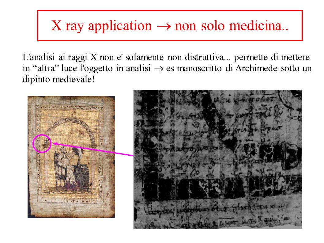 X ray application non solo medicina.. L'analisi ai raggi X non e' solamente non distruttiva... permette di mettere in altra luce l'oggetto in analisi