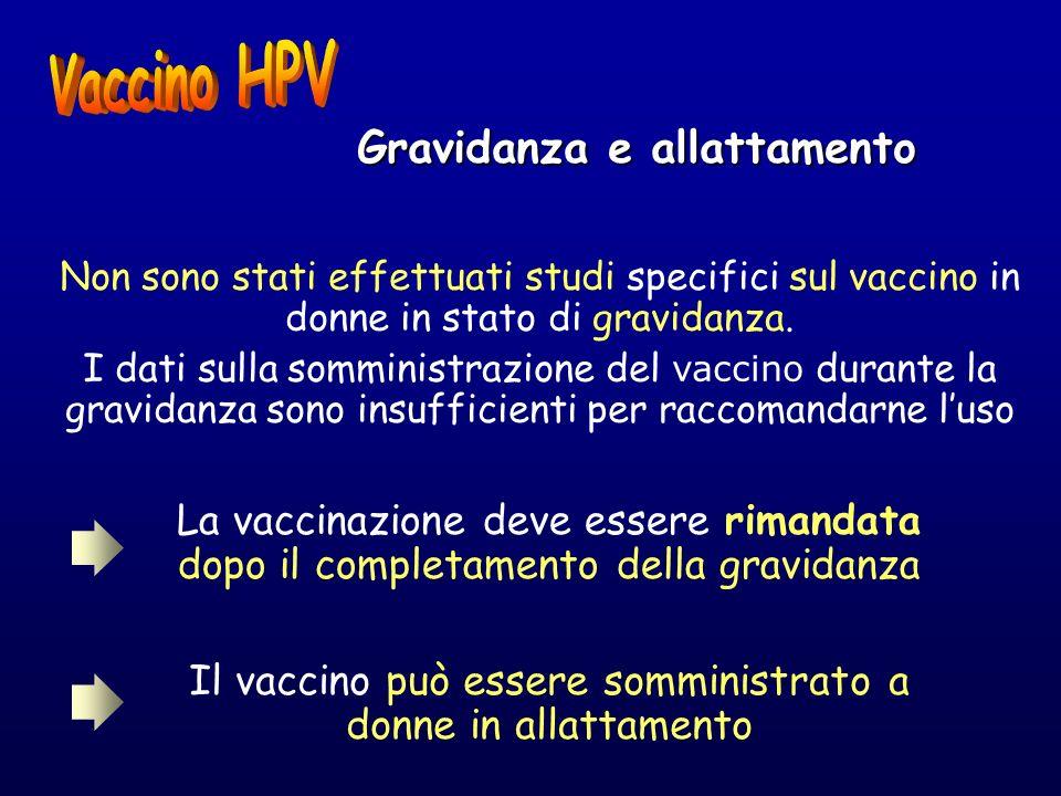 Gravidanza e allattamento Non sono stati effettuati studi specifici sul vaccino in donne in stato di gravidanza. I dati sulla somministrazione del vac