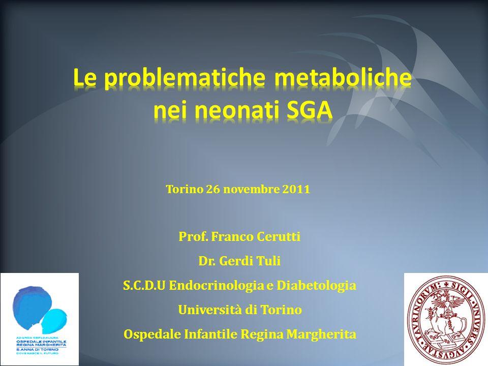 Prof. Franco Cerutti Dr. Gerdi Tuli S.C.D.U Endocrinologia e Diabetologia Università di Torino Ospedale Infantile Regina Margherita Torino 26 novembre