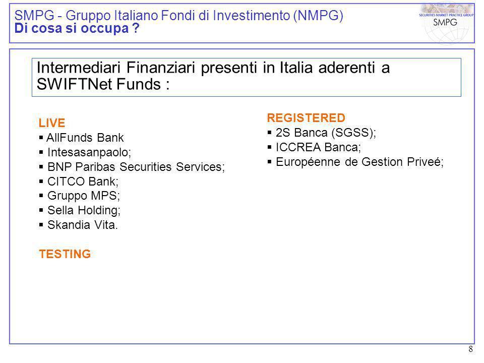 9 SMPG - Gruppo Italiano Fondi di Investimento (NMPG) Cosa è stato fatto .