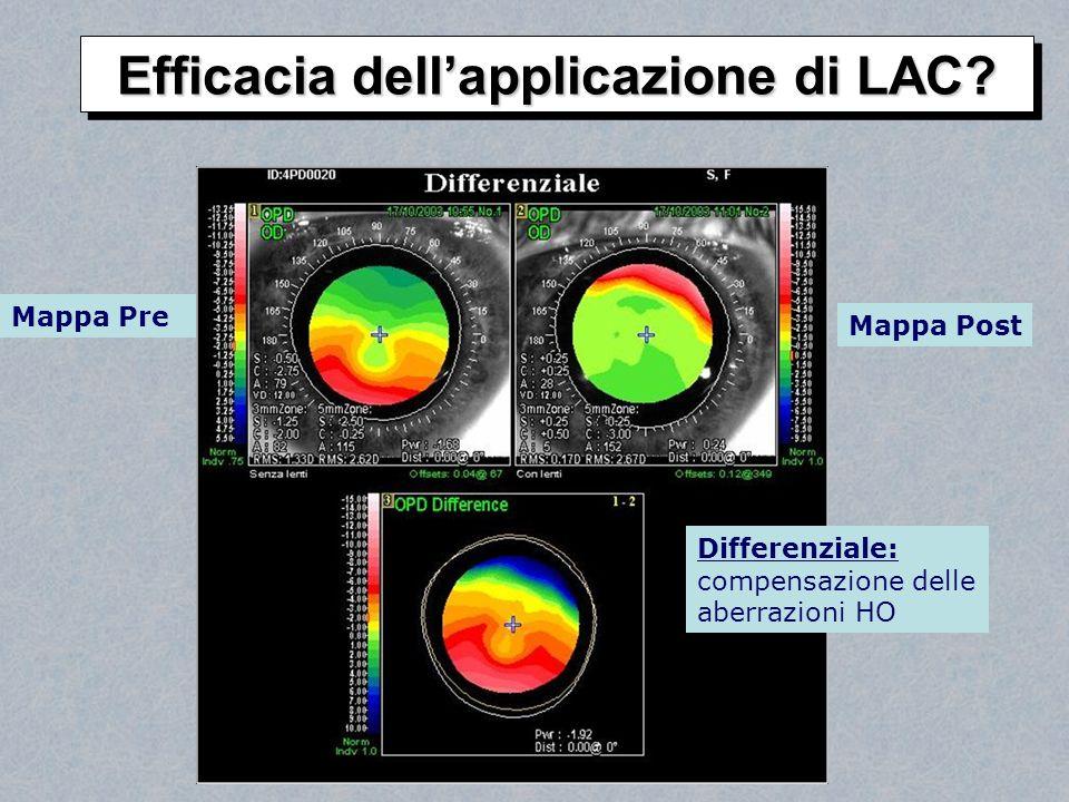 Mappa Pre Mappa Post Differenziale: compensazione delle aberrazioni HO Efficacia dellapplicazione di LAC?