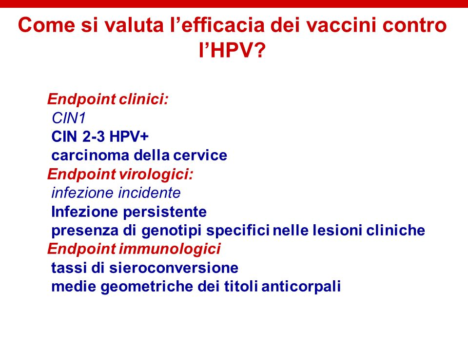 Cervarix: sieropositività e titoli anticorpali fino a 4.5 anni dalla terza dose 1 10 100 1000 10000 month 0month 7month 12month 18[M25-M32][M33-M38][M39-M44][M45-M50][M51-M53] 0% 17% 0% 12% 11% 12% 10% 6% 100% 99% 99.7% 100% Vaccine HPV-16 IgG Placebo IgG % seropositive log (ELU/ml) Months follow up time HPV-001HPV-007 Natural Infection 17 fold higher HPV-16 Harper et al.