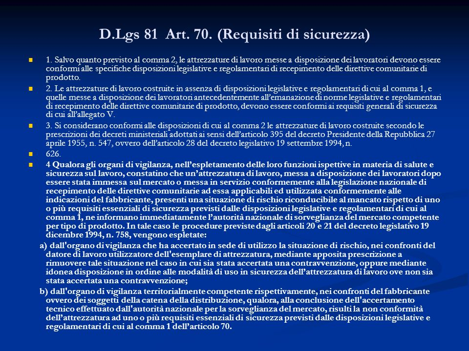 DM art 71 comma13 3.1.Prima verifica periodica 3.1.