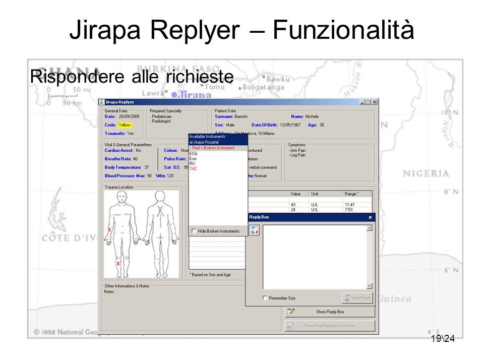 19\24 Jirapa Replyer – Funzionalità Rispondere alle richieste