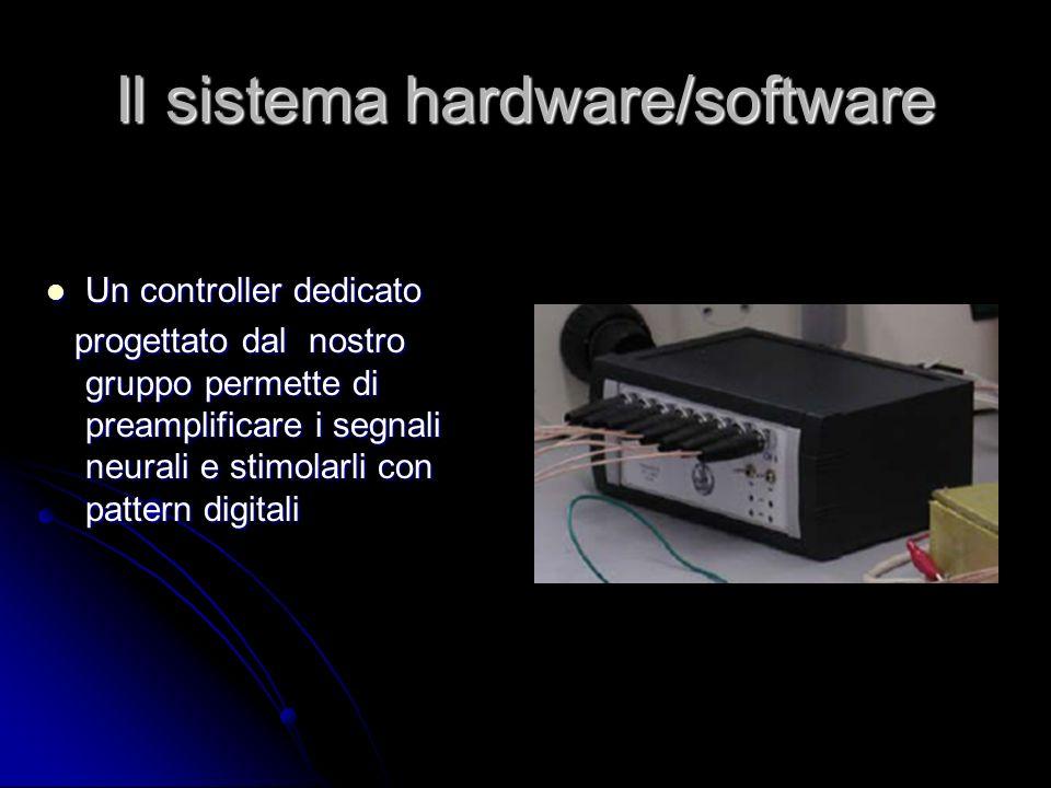 Il sistema hardware/software Un controller dedicato Un controller dedicato progettato dal nostro gruppo permette di preamplificare i segnali neurali e