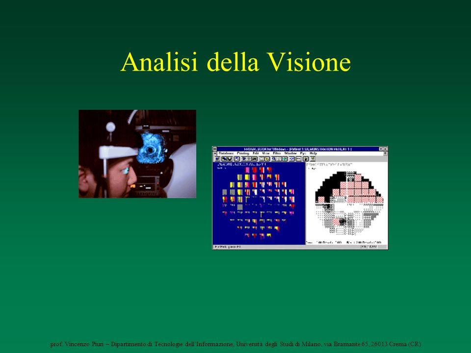 prof. Vincenzo Piuri – Dipartimento di Tecnologie dellInformazione, Università degli Studi di Milano, via Bramante 65, 26013 Crema (CR) Analisi della