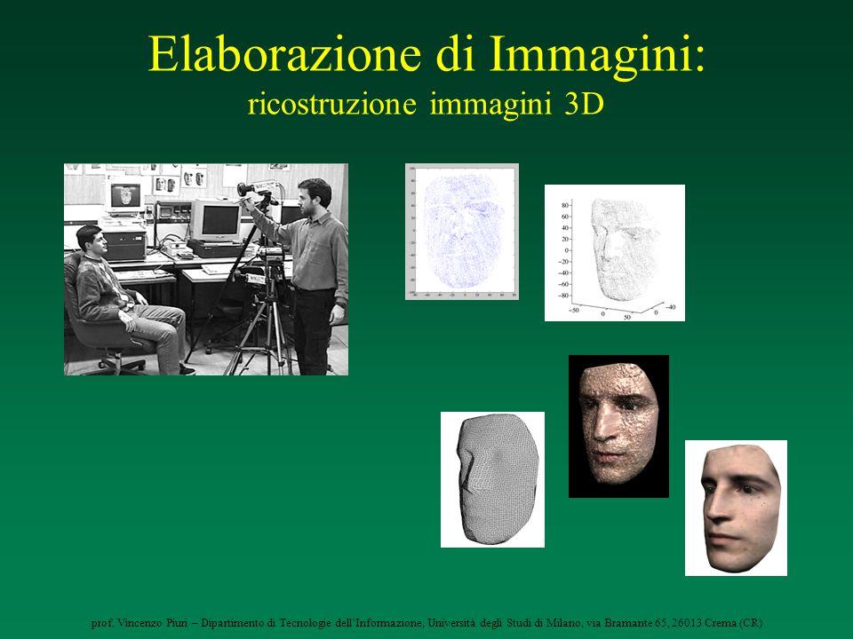 prof. Vincenzo Piuri – Dipartimento di Tecnologie dellInformazione, Università degli Studi di Milano, via Bramante 65, 26013 Crema (CR) Elaborazione d