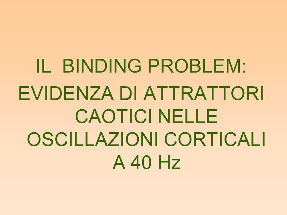 IL BINDING PROBLEM: EVIDENZA DI ATTRATTORI CAOTICI NELLE OSCILLAZIONI CORTICALI A 40 Hz