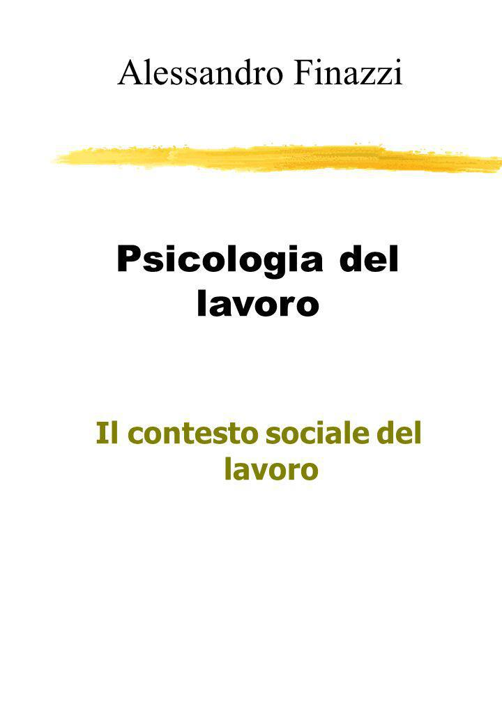 Alessandro Finazzi Psicologia del lavoro Il contesto sociale del lavoro