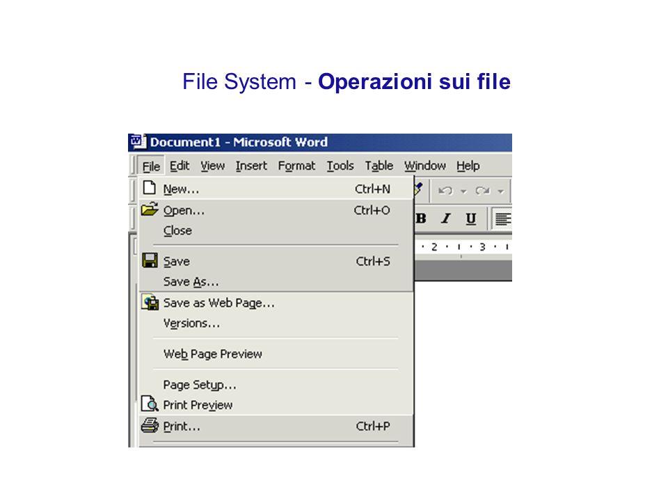 File System - Operazioni sui file