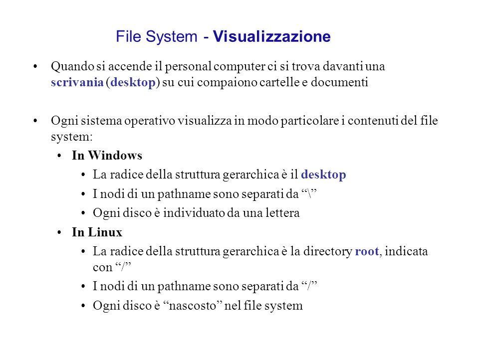 Quando si accende il personal computer ci si trova davanti una scrivania (desktop) su cui compaiono cartelle e documenti Ogni sistema operativo visual