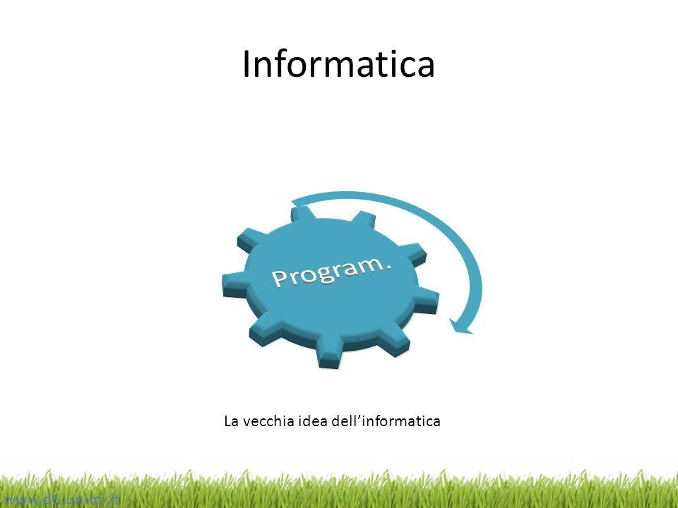 Informatica www.dti.unimi.it La vecchia idea dellinformatica