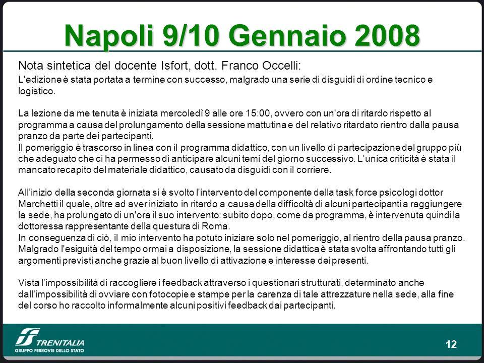 12 Napoli 9/10 Gennaio 2008 L edizione è stata portata a termine con successo, malgrado una serie di disguidi di ordine tecnico e logistico.