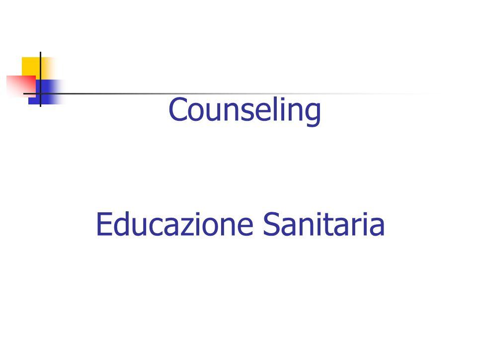 Counseling Educazione Sanitaria