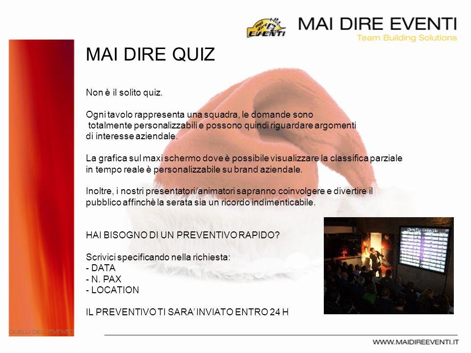 GRAZIE PER LA VOSTRA ATTENZIONE Simone Vanni CEO simone@maidireeventi.it +39.338.88.04.280 Mai Dire Eventi srl www.maidireeventi.it