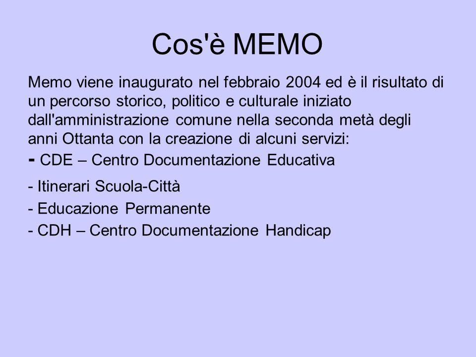 Cos'è MEMO Memo viene inaugurato nel febbraio 2004 ed è il risultato di un percorso storico, politico e culturale iniziato dall'amministrazione comune