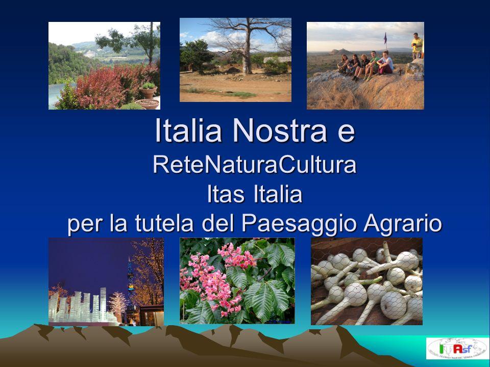 Italia Nostra e ReteNaturaCultura Itas Italia per la tutela del Paesaggio Agrario