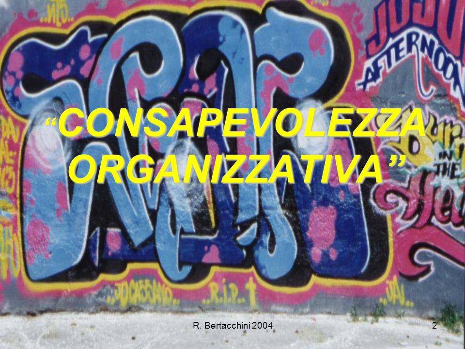 R. Bertacchini 20042 CONSAPEVOLEZZA ORGANIZZATIVA CONSAPEVOLEZZA ORGANIZZATIVA