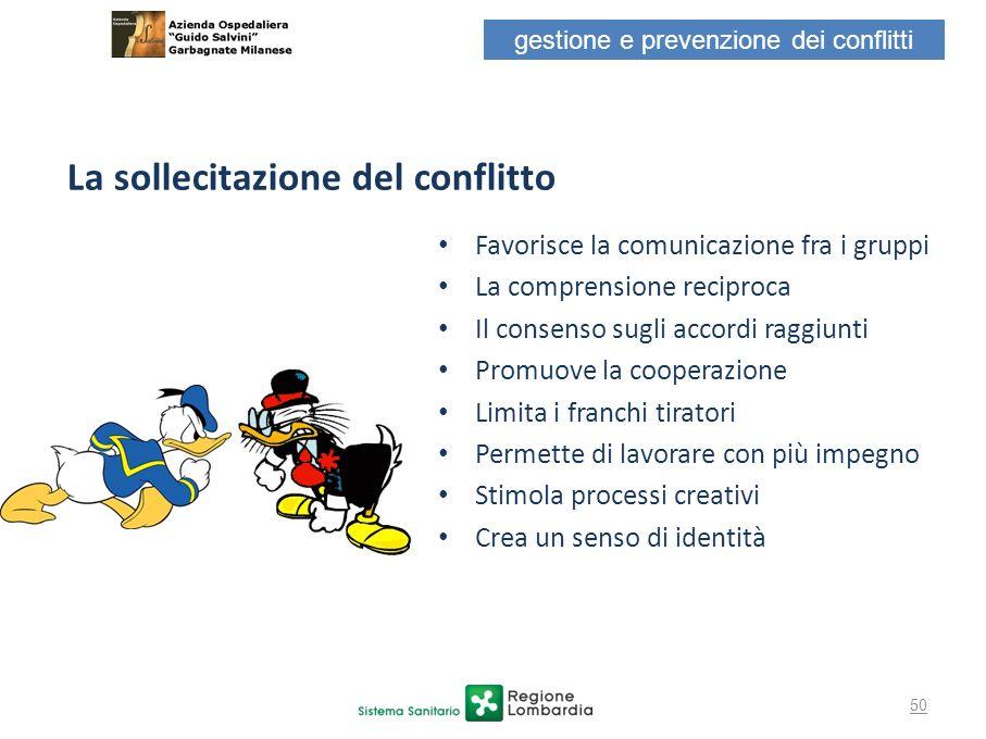 Favorisce la comunicazione fra i gruppi La comprensione reciproca Il consenso sugli accordi raggiunti Promuove la cooperazione Limita i franchi tirato