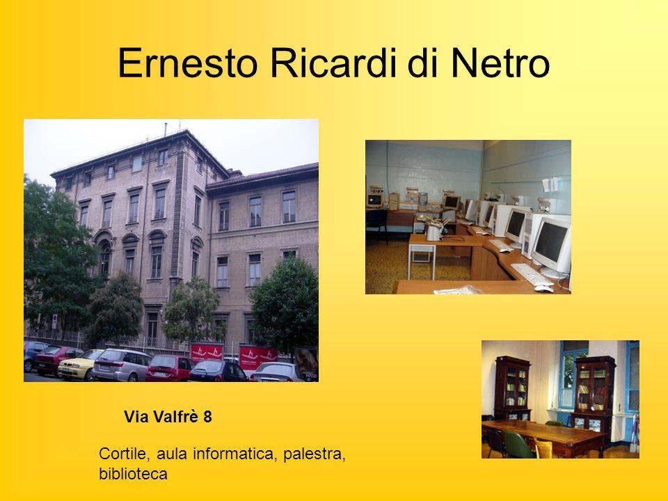Ernesto Ricardi di Netro Via Valfrè 8 Cortile, aula informatica, palestra, biblioteca