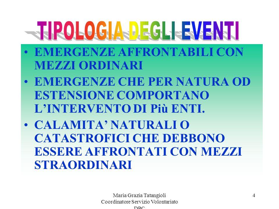 Maria Grazia Tatangioli Coordinatore Servizio Volontariato DPC 24