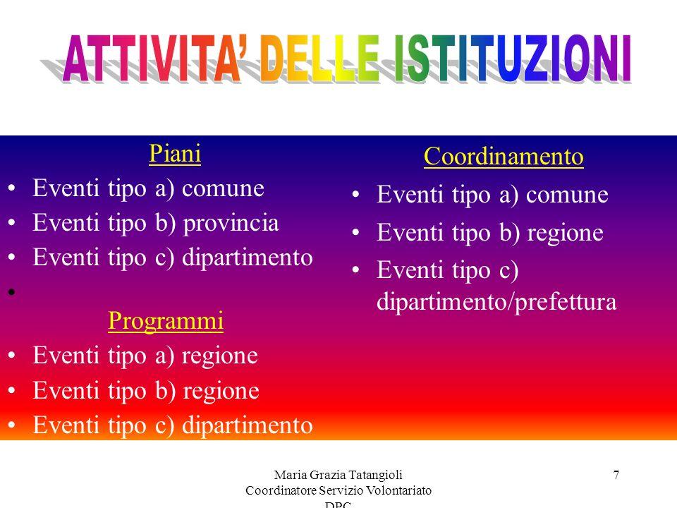 Maria Grazia Tatangioli Coordinatore Servizio Volontariato DPC 17