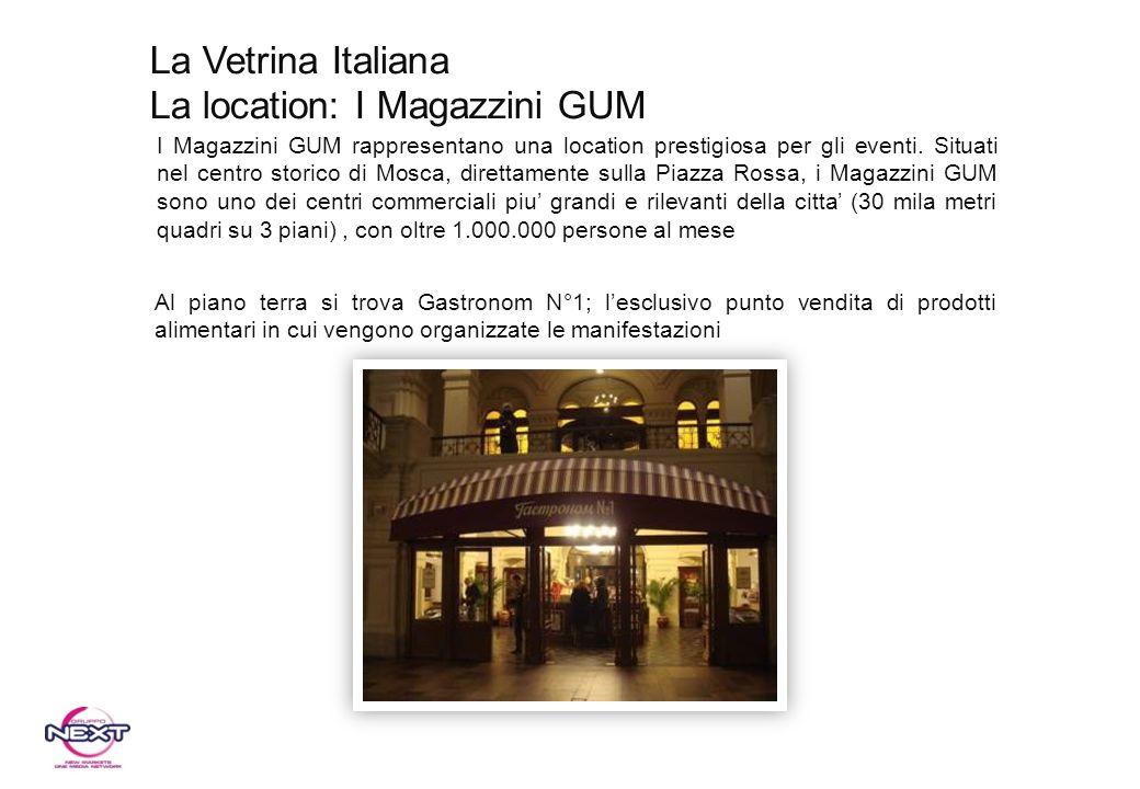 I Magazzini GUM rappresentano una location prestigiosa per gli eventi. Situati nel centro storico di Mosca, direttamente sulla Piazza Rossa, i Magazzi