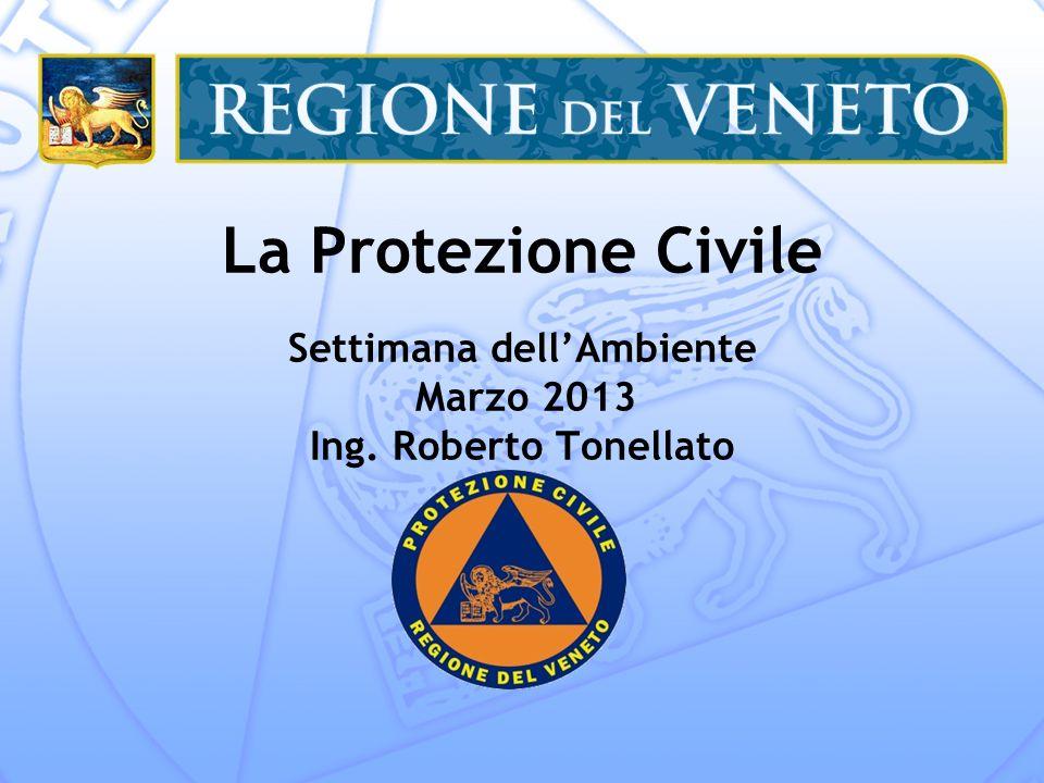 La Protezione Civile Settimana dellAmbiente Marzo 2013 Ing. Roberto Tonellato