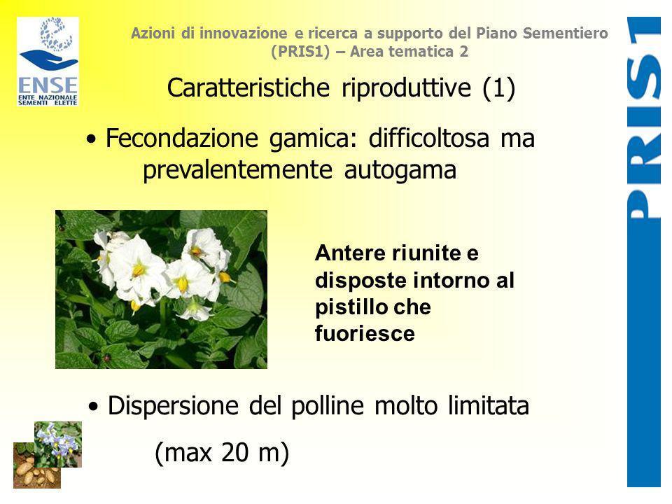 Azioni di innovazione e ricerca a supporto del Piano Sementiero (PRIS1) – Area tematica 2 Caratteristiche riproduttive (1) Fecondazione gamica: diffic