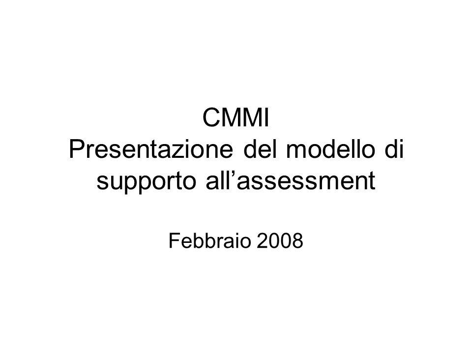 CMMI Presentazione del modello di supporto allassessment Febbraio 2008