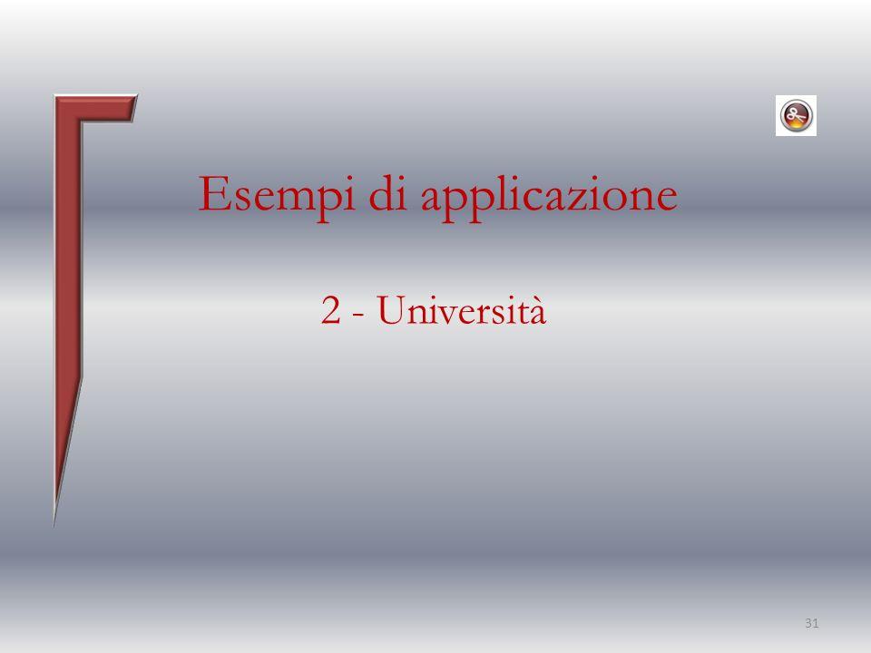 Esempi di applicazione 2 - Università 31