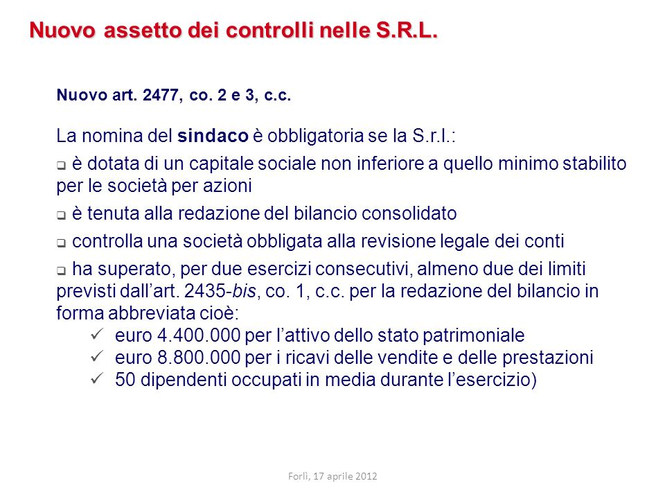 Il compenso per il controllo di legittimità L articolo 37 della tariffa suddivide gli onorari spettanti ai sindaci in tre punti: Compensi spettanti per le verifiche periodiche (art.37, c.1, lettera a); Compensi spettanti per la redazione della relazione al bilancio (art.37, c.1, lettera b); Compensi spettanti per la partecipazione alle riunioni degli organi sociali (art.37, c.1, lettera c).