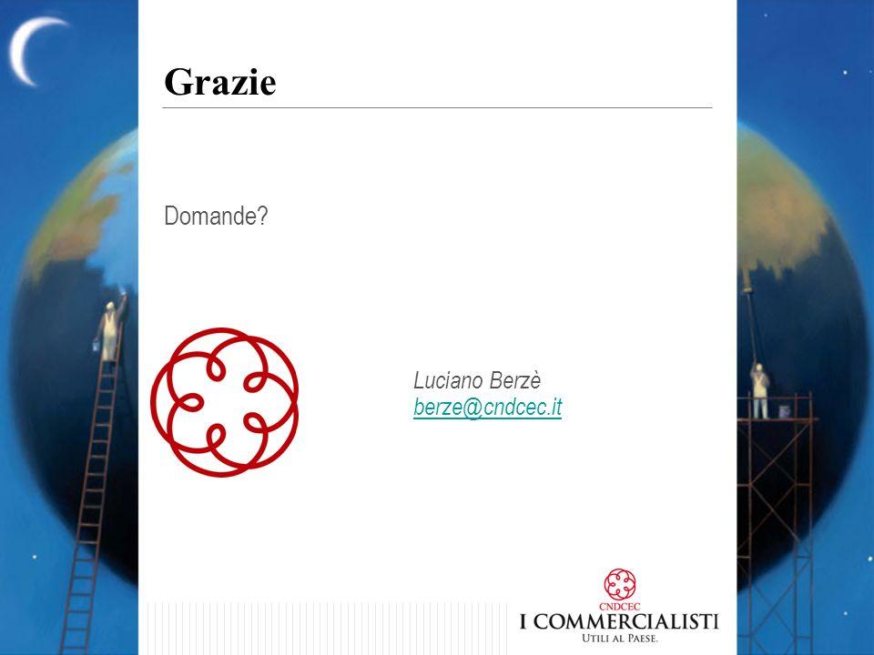 Domande? Grazie Luciano Berzè berze@cndcec.it