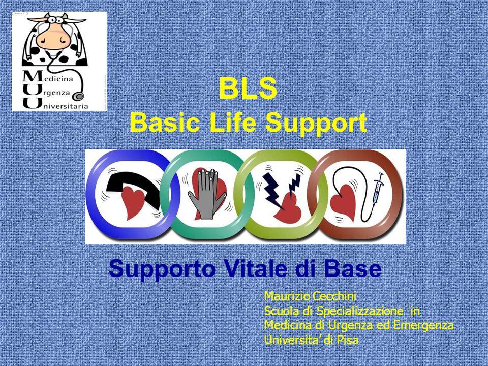 BLS Basic Life Support Supporto Vitale di Base Maurizio Cecchini Scuola di Specializzazione in Medicina di Urgenza ed Emergenza Universita di Pisa