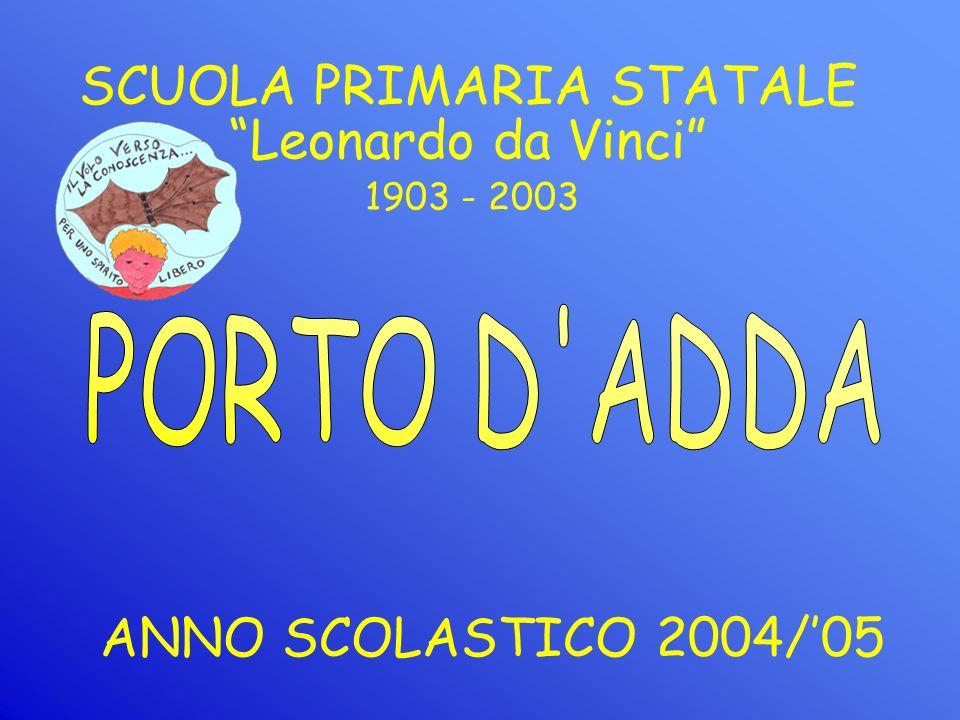 SCUOLA PRIMARIA STATALE ANNO SCOLASTICO 2004/05 1903 - 2003 Leonardo da Vinci
